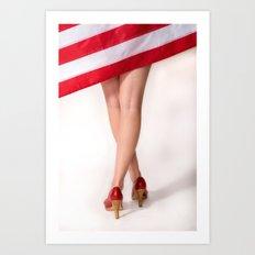 American Legs Art Print