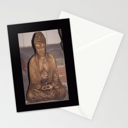 Buddha with coin offerings Stationery Cards