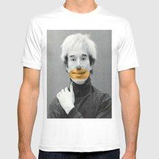 A Mona Lisa Smile Mens Fitted Tee White MEDIUM