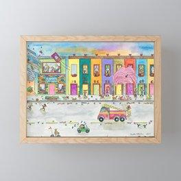 Happy Town VI Framed Mini Art Print