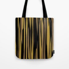 Yellow tan and black abstract Tote Bag