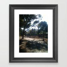 dim light Framed Art Print