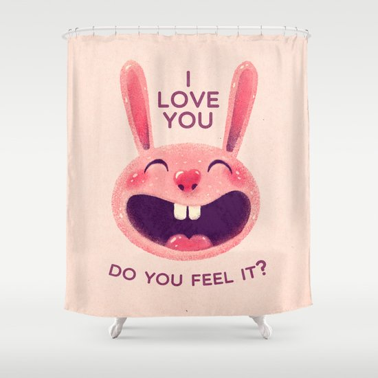 Bunny with love Shower Curtain