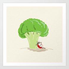 Cauliflower Tree Art Print