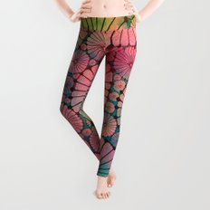 Abstract Floral Circles Leggings