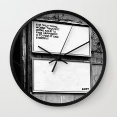 Billboard Fantasies #1 Wall Clock