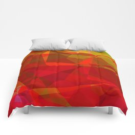 Mixed color Poinsettias 1 Abstract Polygons 3 Comforters