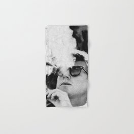Cigar Smoker Cigar Lover JFK Gifts Black And White Photo Hand & Bath Towel