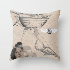 Future is in your head Throw Pillow