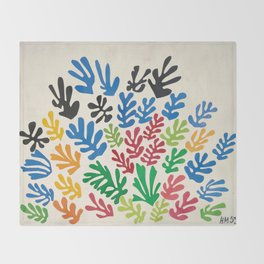 Leaf Cutouts by Henri Matisse (1953) Throw Blanket