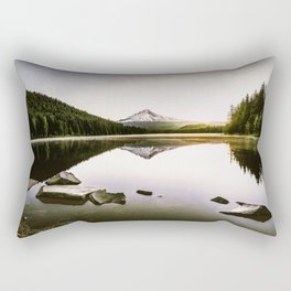 Fantastic Morning - Mount Hood Reflection Rectangular Pillow