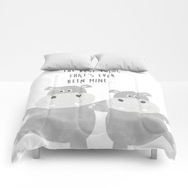 Best Hippo Couple - You are the best thing thats ever been mine - Happy Valentines Day Comforters
