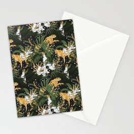 Animals in the glamorous nocturnal jungle Stationery Cards