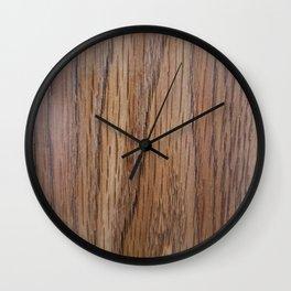 Mid Tone Wood Grain Wall Clock