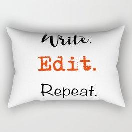 Write. Edit. Repeat. Rectangular Pillow