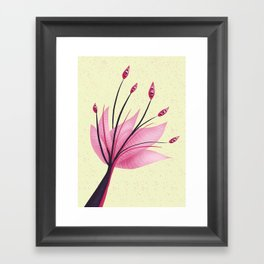 Pink Abstract Water Lily Flower Framed Art Print