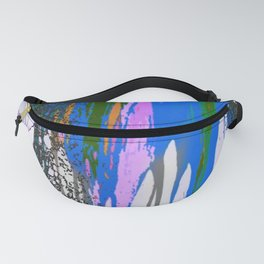 Dripping Paint Floral Fanny Pack