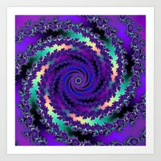Purple Hurricane Fractal Art Print