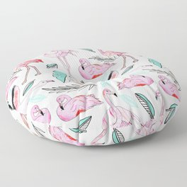 Flamingos Forever Floor Pillow