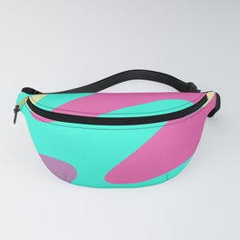 Abstraction. Cheerful multicolored waves. Fanny Pack