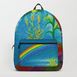 'Genesis, the Gift of Life' portrait painting by Migual Covarrubias Backpack