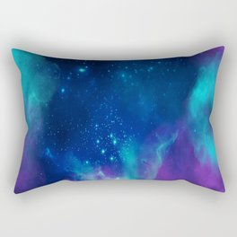 Violet And Blue Planetary Nebula - Fantasy Galaxy Space Rectangular Pillow