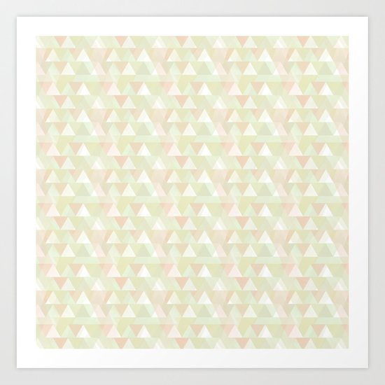 Pastel triangles Art Print
