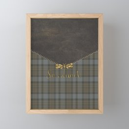 SASSENACH TARTAN LEATHER Framed Mini Art Print