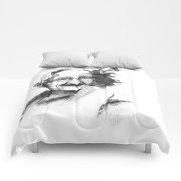 Will & Strength (Ghandi) by carographic Comforters
