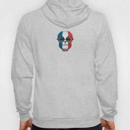 Baby Owl with Glasses and French Flag Hoody