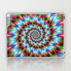 Spiral Rosette in Blue Green and Red Laptop & iPad Skin
