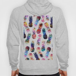 watercolor and nebula pineapples illustration pattern Hoody