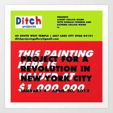 Ditch Projects Artforum Advertisement Art Print