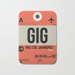 GIG Rio De Janeiro Luggage Tag 2 Bath Mat