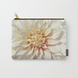 Dahlia white macro 043 Carry-All Pouch