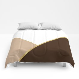 Autumn Brown Gold Comforters