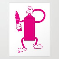 Mr Spray Can Art Print