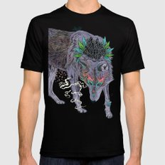 Journeying Spirit (wolf) Black Mens Fitted Tee SMALL