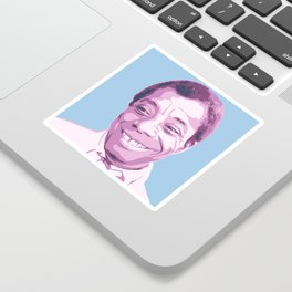 James Baldwin Portrait Blue Purple Sticker