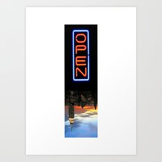 NYC: NOW OPEN! Art Print