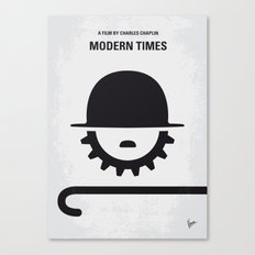 No325 My MODERN TIMES minimal movie poster Canvas Print