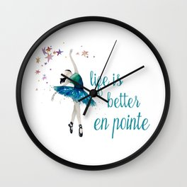 Life is better when you dance Wall Clock