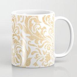 Gold foil swirls damask #12 Coffee Mug