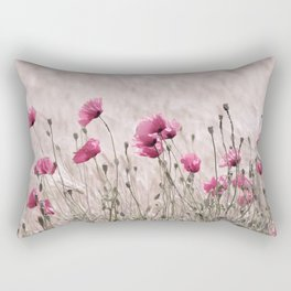 Poppy Pastell Pink Rectangular Pillow