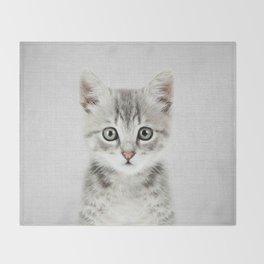 Kitten - Colorful Throw Blanket