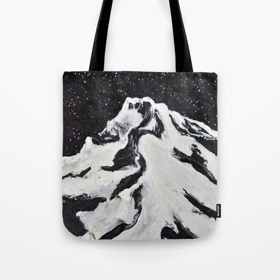 Mount Hood and Stars Tote Bag