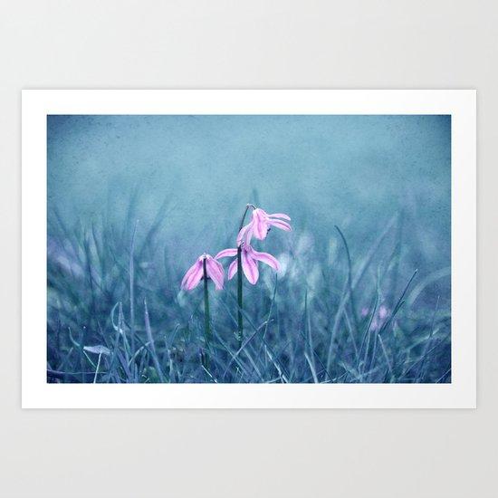 blue meadow Art Print