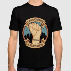 Bioshock a man, a slave Black Mens Fitted Tee LARGE