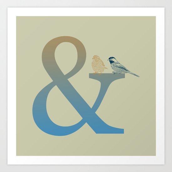 Ampersand And Birds Art Print