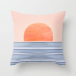Summer Sunrise - Minimal Abstract Throw Pillow